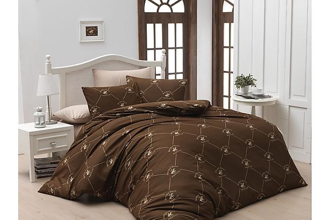 Beverly Hills Polo Club Bäddset Enkelt 3-dels Ranforce - Brun/Creme - Heminredning - Textilier - Sängkläder