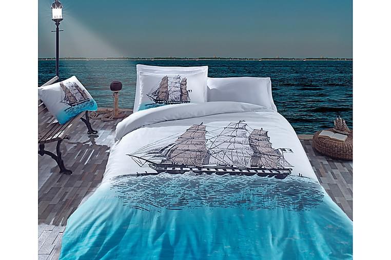 Cotton Box Bäddset Dubbelt 4-dels Ranforce - Blå/Turkos/Multi - Heminredning - Textilier - Sängkläder
