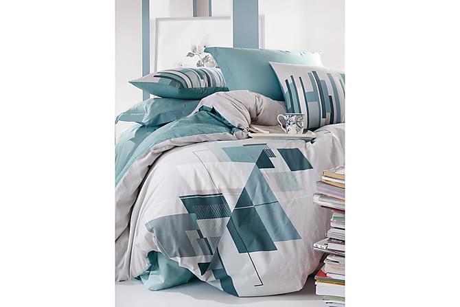 Cotton Box Bäddset Dubbelt 4-dels Ranforce - Petrol/Vit - Heminredning - Textilier - Sängkläder