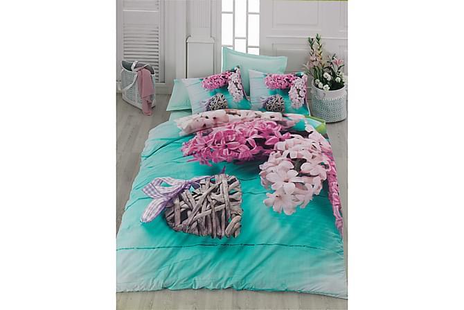 Cotton Box Bäddset Dubbelt 4-dels Ranforce - Turkos/Multi - Heminredning - Textilier - Sängkläder