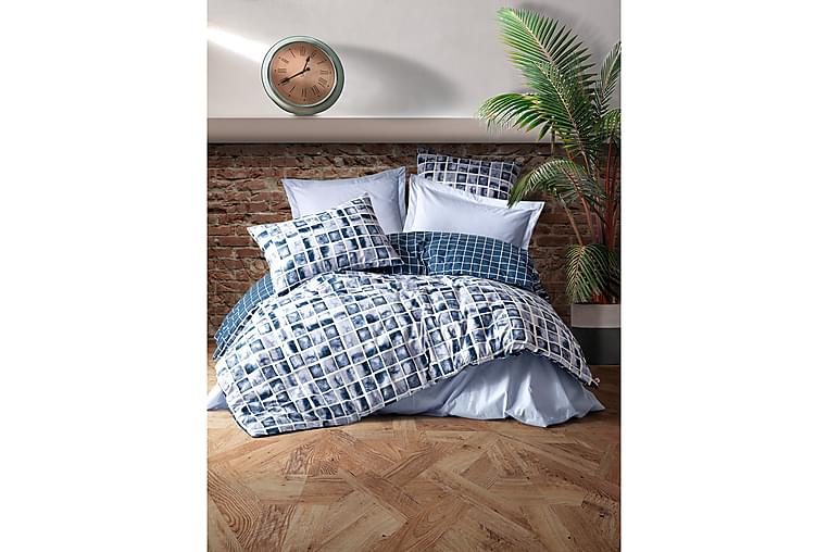 Cotton Box Ranforce Bäddset - Blå - Heminredning - Textilier - Sängkläder