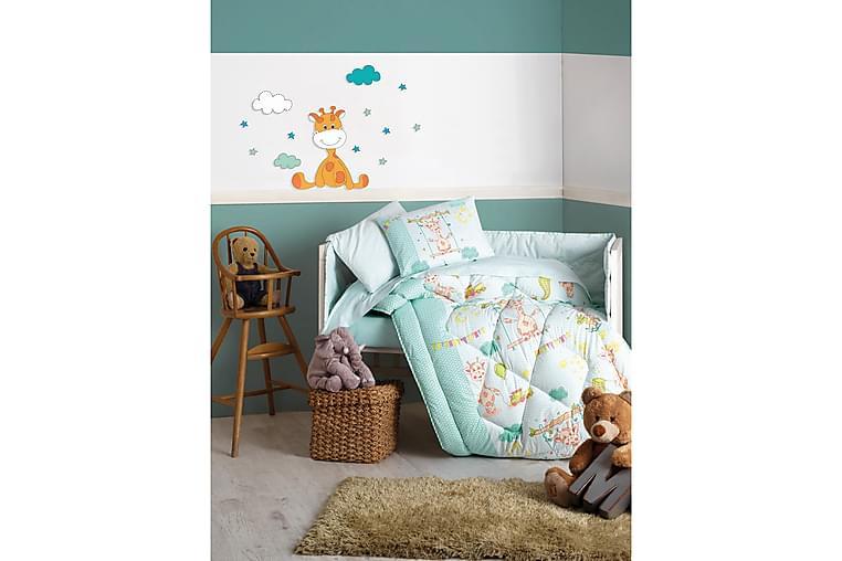 Cotton Box Sovpaket Baby 6 Delar Ranforce - Grön/Vit/Gul - Heminredning - Textilier - Sängkläder