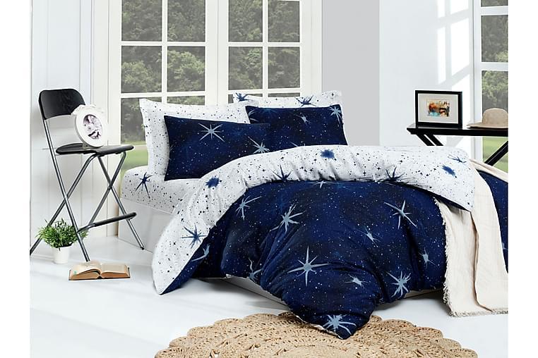 EnLora Home Bäddset Dubbelt 4-dels - Mörkblå/Vit - Heminredning - Textilier - Sängkläder
