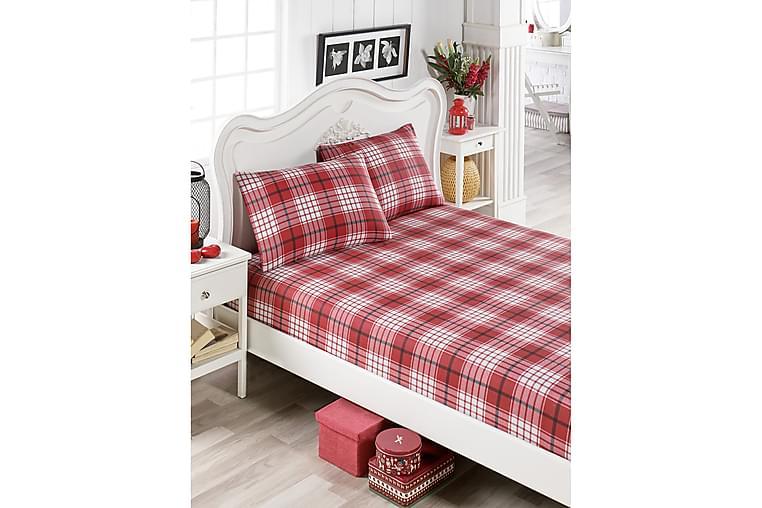EnLora Home Lakan Dubbelt 160x200 cm+Kuddfodral - Röd/Vit/Svart - Heminredning - Textilier - Sängkläder