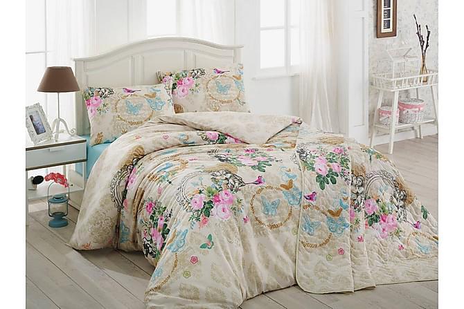 Eponj Home Bäddset Dubbelt 4-dels - Beige/Vit/Multi - Heminredning - Textilier - Sängkläder