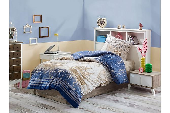 Eponj Home Bäddset Enkelt 3-dels - Mörkblå/Creme - Heminredning - Textilier - Sängkläder