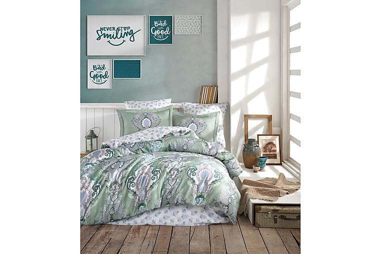 Primacasa by Türkiz Satin Bäddset - Mintgrön - Heminredning - Textilier - Sängkläder