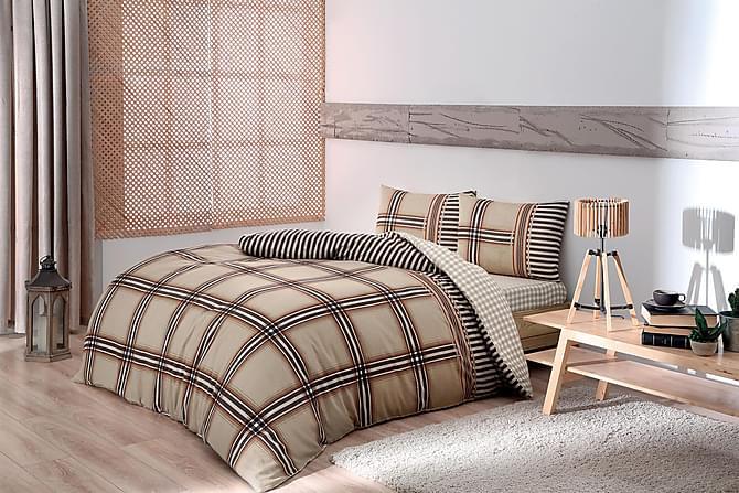 Taç Bäddset Enkelt 3-dels - Kamel/Brun/Vit - Heminredning - Textilier - Sängkläder