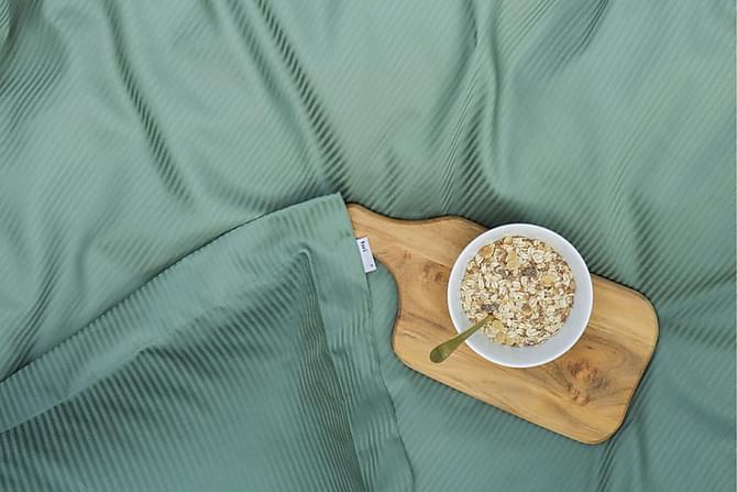 Alderney Bäddset 150x210 cm Satin - Mörkgrön - Heminredning - Textilier - Sängkläder