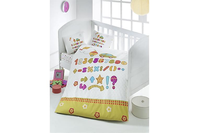 Victoria Bäddset Baby 4-dels Ranforce - Vit/Senap/Lila/Blå - Heminredning - Textilier - Sängkläder