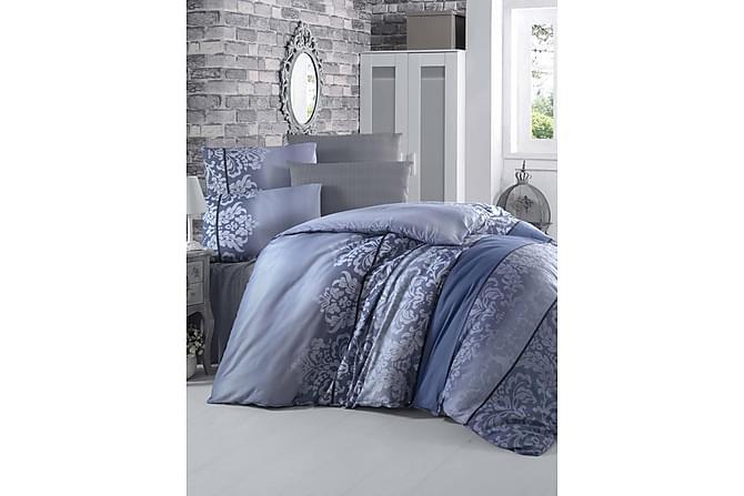 Victoria Bäddset Enkelt 3-dels - Blå/Mörkblå - Heminredning - Textilier - Sängkläder