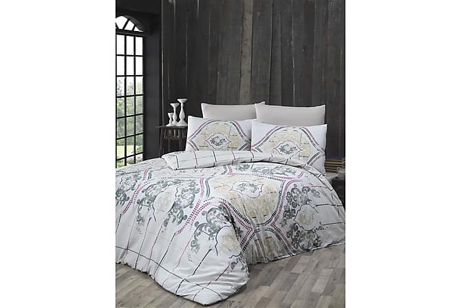 Victoria Bäddset Enkelt 3-dels Ranforce - Grå/Vit - Heminredning - Textilier - Sängkläder