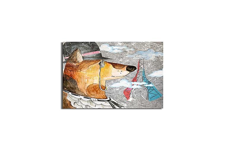 Canvastavla Flerfärgad - 45x45 cm - Heminredning - Väggdekor - Canvastavlor