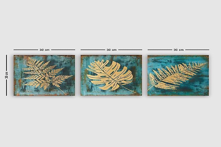 Canvastavla VP Italy 3-pack Flerfärgad - 30x30 cm - Heminredning - Väggdekor - Canvastavlor