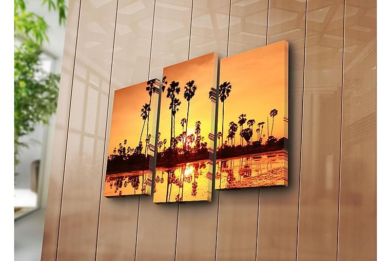 Dekorativ Canvasmålning 3 Delar - Flerfärgad - Heminredning - Väggdekor - Canvastavlor