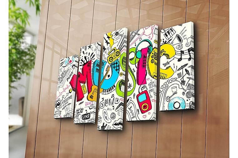 Dekorativ Canvasmålning 5 Delar - Flerfärgad - Heminredning - Väggdekor - Canvastavlor