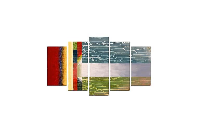 Dekorativ MDF-målning 5 Delar - Flerfärgad - Heminredning - Väggdekor - Canvastavlor