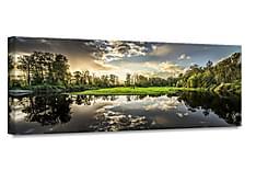 Green Sunset Tavla 60x150 cm