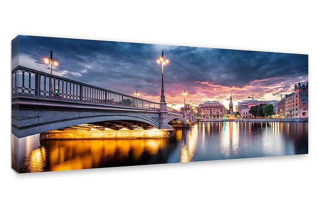 Tavla Canvas Vasabron, Stockholm - 60x150 cm - Heminredning - Väggdekor - Canvastavlor