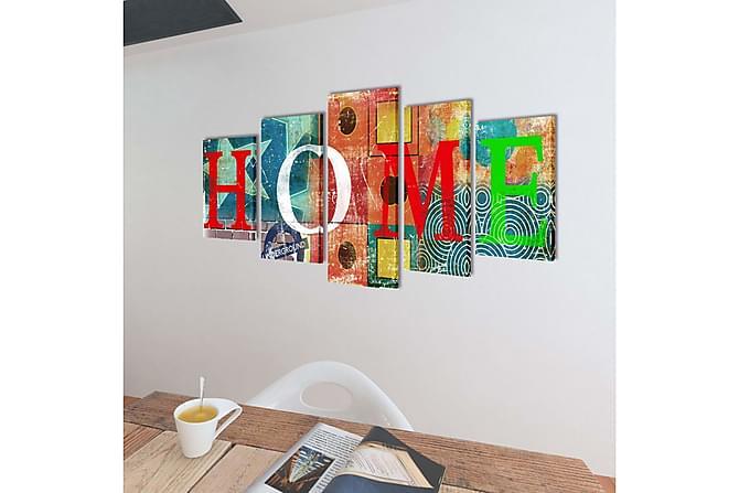 Uppsättning väggbonader på duk: färgfylld hemdesign 100 x 50 - Heminredning - Väggdekor - Posters