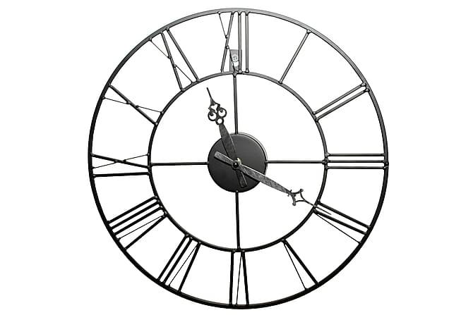 Black Metal klocka - 40x40cm - Heminredning - Väggdekor - Klockor & väggklockor