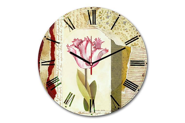 Dekorativ MDF-klocka - Flerfärgad - Heminredning - Väggdekor - Klockor & väggklockor