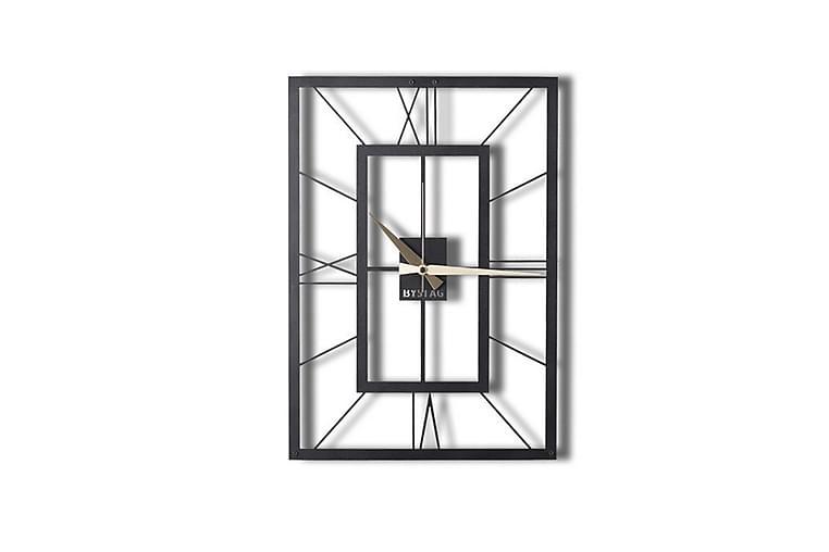 Dekorativ Metallväggklocka - Svart - Heminredning - Väggdekor - Klockor & väggklockor