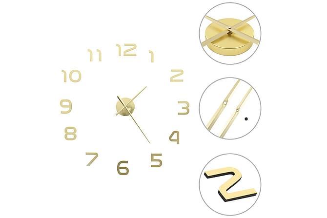 Väggklocka 3D modern design 100 cm XXL guld - Guld - Heminredning - Väggdekor - Klockor & väggklockor