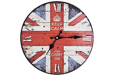Väggklocka vintage UK 30 cm