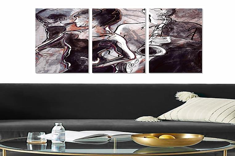 Canvastavla Music 3-pack Flerfärgad - 20x50 cm - Heminredning - Väggdekor - Posters