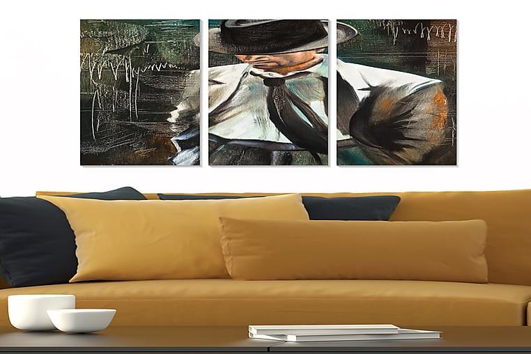 Canvastavla People 3-pack Flerfärgad - 20x50 cm - Heminredning - Väggdekor - Posters