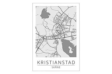 Kristianstad Stadskarta Poster