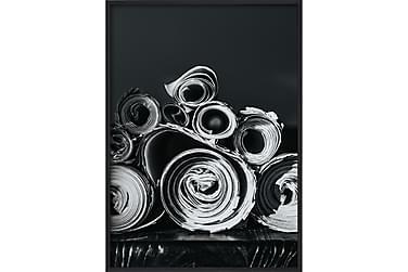 Paper Rolls Poster B&W