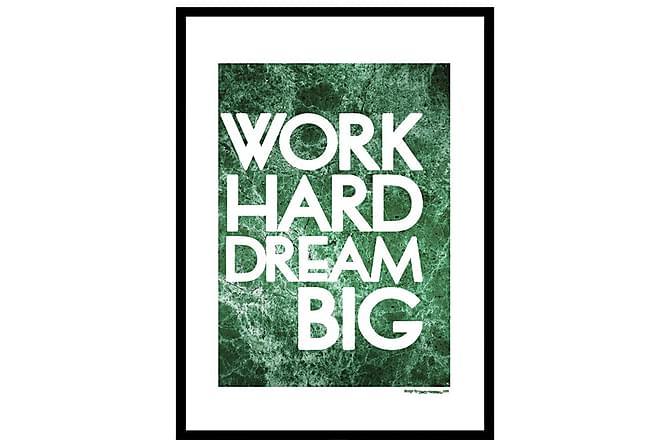 Poster Work hard - Finns i flera storlekar - Heminredning - Väggdekor - Posters