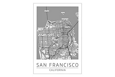 San Francisco Stadskarta Poster