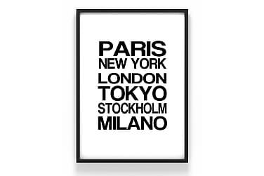 Städer text Poster
