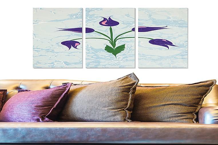 Tavla Floral 3-pack Flerfärgad - 20x50 cm - Heminredning - Väggdekor - Posters