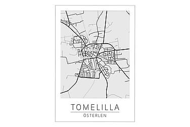 Tomelilla Stadskarta Poster