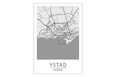 Ystad Stadskarta Poster