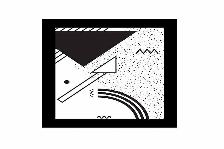 Tavla Geometric med Ram Flerfärgad - 23,5x28,5 cm - Heminredning - Väggdekor - Ramar