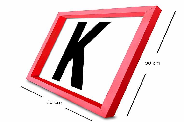 Tavla Letter med Ram Flerfärgad - 30x30 cm - Heminredning - Väggdekor - Ramar
