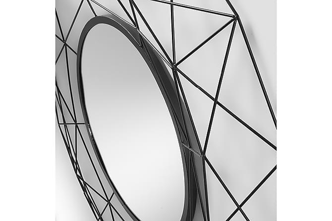 ABITA Spegel - Rund Metall - Heminredning - Väggdekor - Speglar