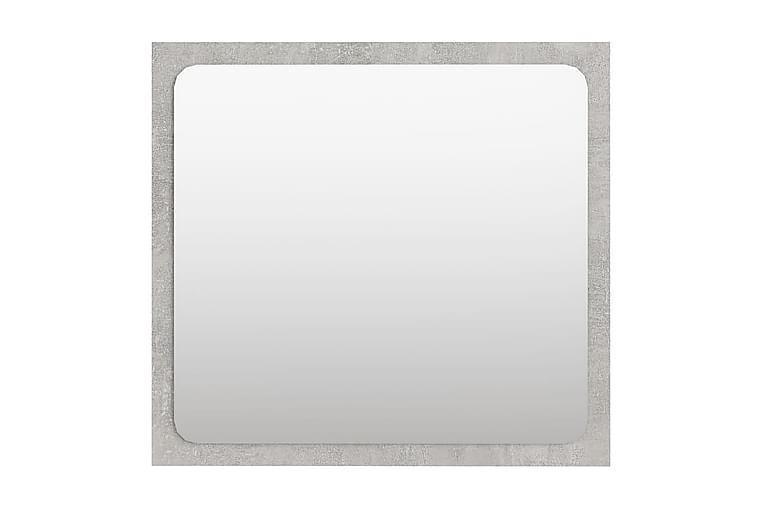 Badrumsspegel betonggrå 40x1,5x37 cm spånskiva - Grå - Heminredning - Väggdekor - Speglar