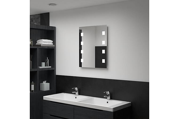 Badrumsspegel LED 50x60 cm - Silver - Heminredning - Väggdekor - Speglar