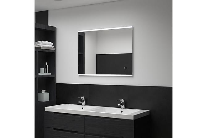 Badrumsspegel LED med touch-sensor 80x60 cm - Silver - Heminredning - Väggdekor - Speglar