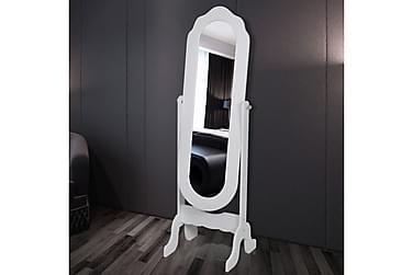 Spegel fristående vändbar vit