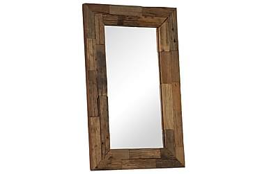 Spegel i massivt sliperträ 50x80 cm