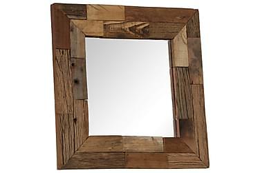 Spegel i massivt sliperträ 50x50 cm