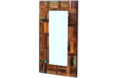 Spegel massivt återvunnet trä 80x50 cm