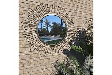 Trädgårdsspegel solstrålar 80 cm svart